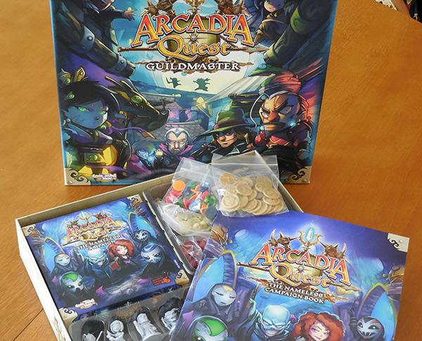 Arcadia Quest KICKSTARTER + Guildmaster Box + Nameless Campaign