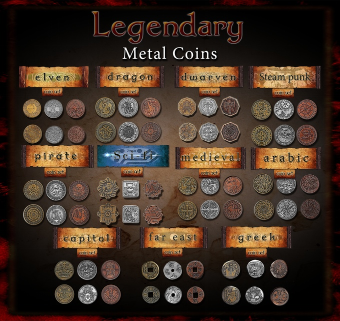 Legendary Metal Coins for Gaming