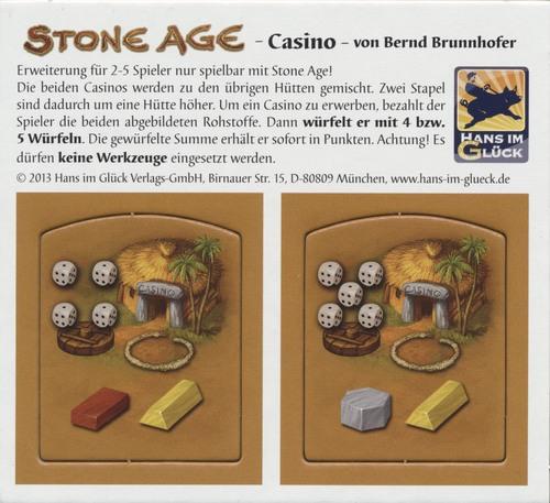 "Age de Pierre - Goodies 2 tuiles ""Casino"""
