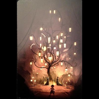 Dixit : Carte arbre des lumières