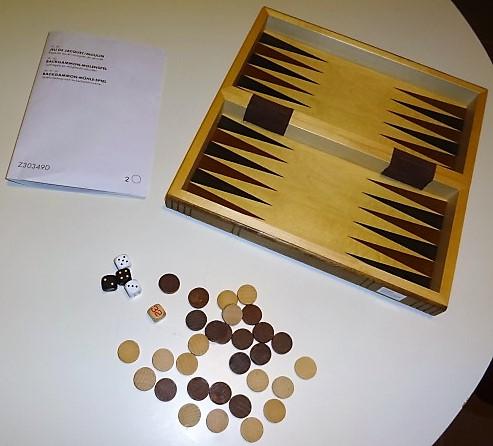 Backgammon - moulin en bois