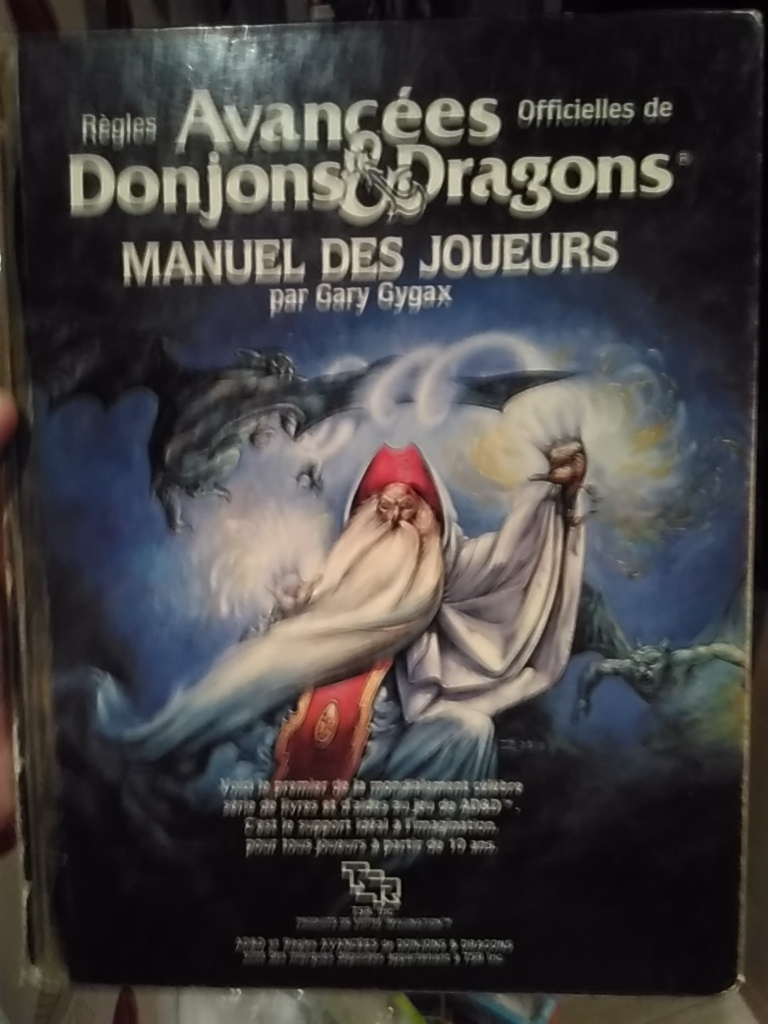 Advanced Dungeons & Dragons - Manuel des Joueurs
