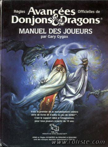 Advanced Dungeons & Dragons - 1ère Edition VF - Manuel des Joueurs