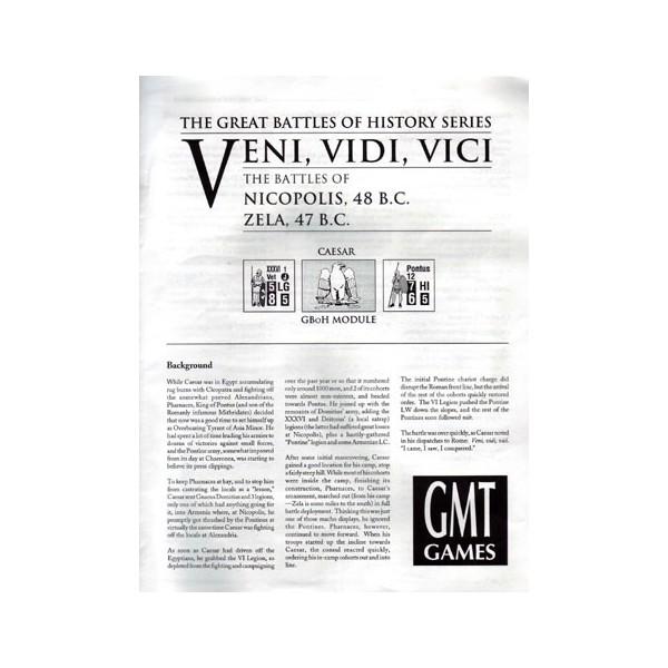CAESAR: THE CIVIL WAR - VENI VIDI VICI