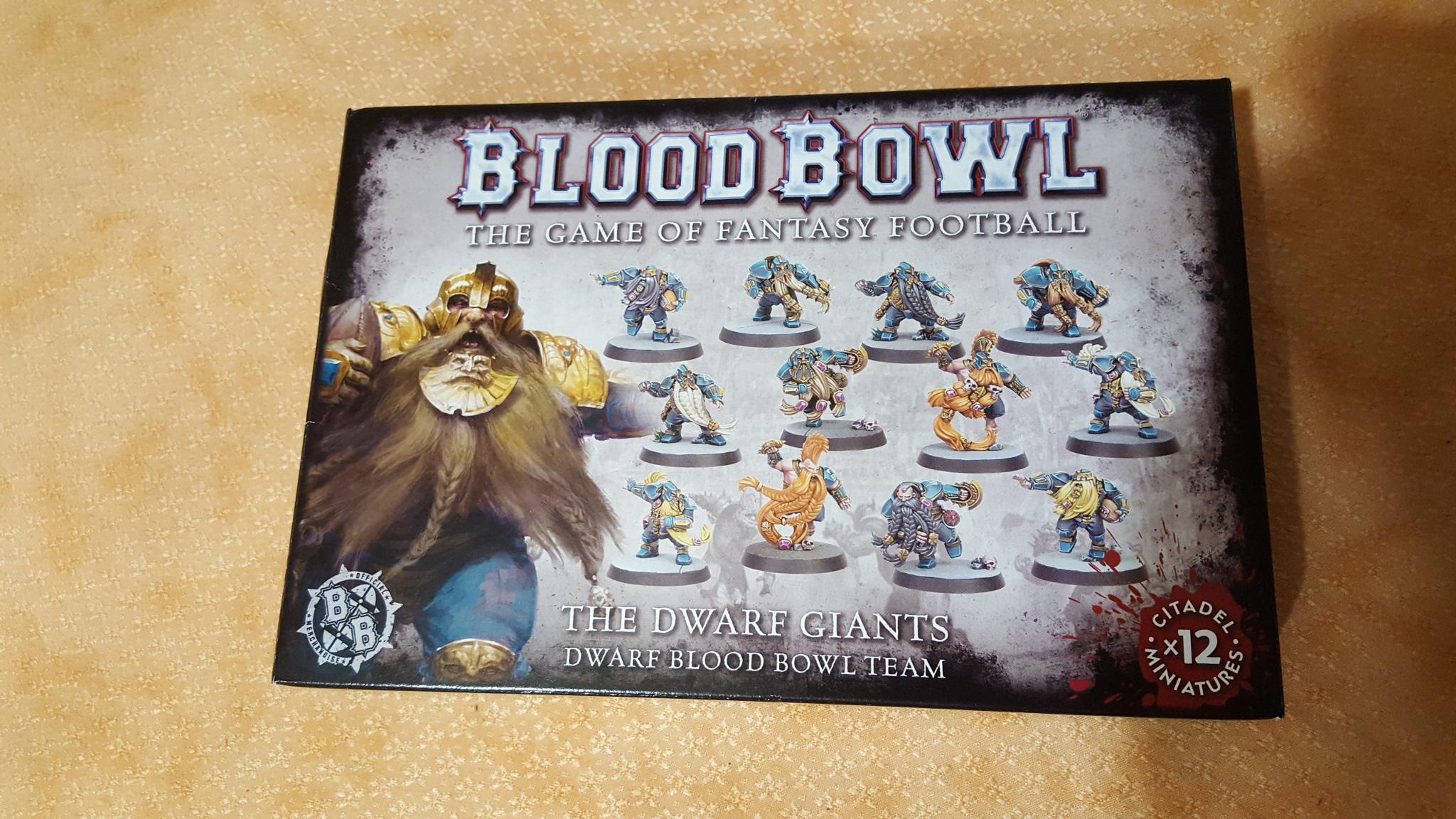 Blood Bowl 2016 - the dwarf giants (équipe de nains)