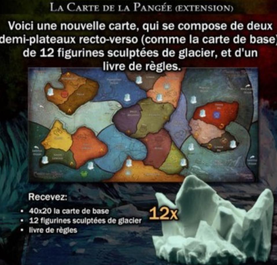Cthulhu wars  : Extension carte Pangée