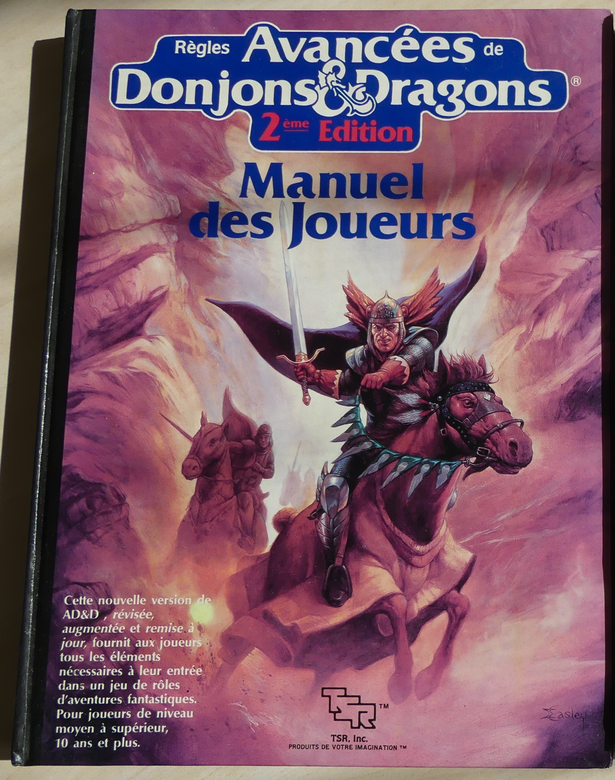 advanced d&d 2nd edition. Manuel des joueurs