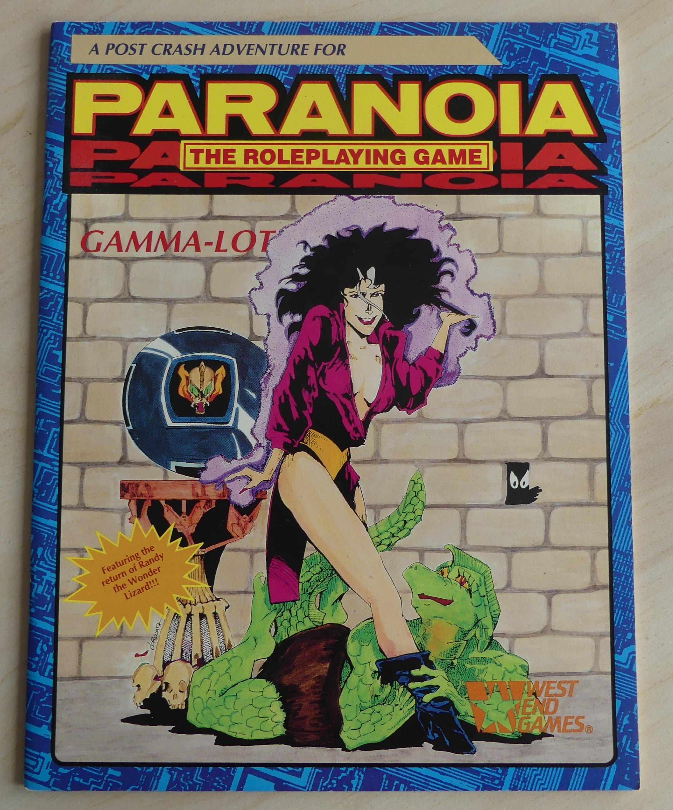 a post-crash adventure for paranoia: Gamma-Lot