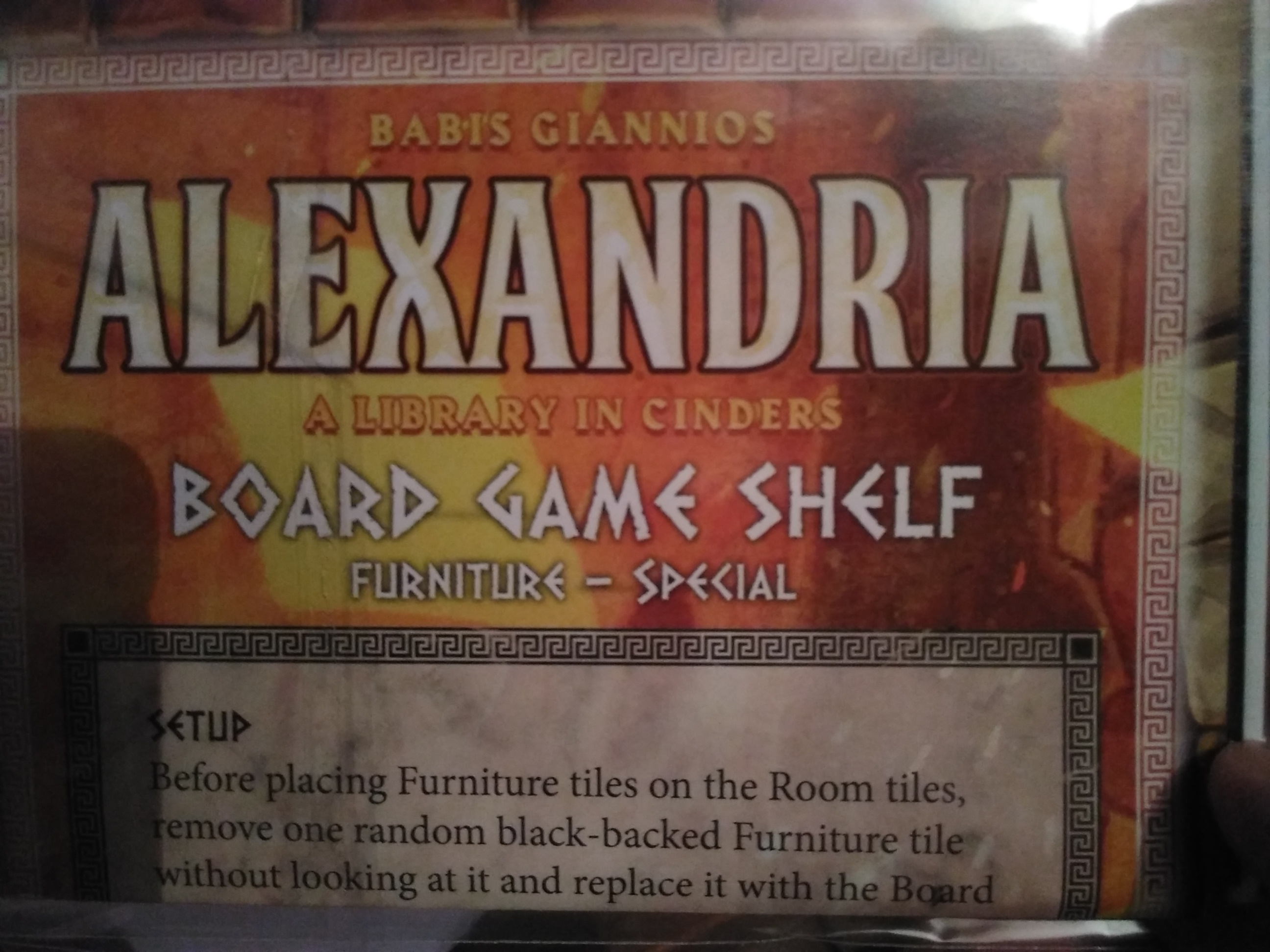 Alexandria - Board Game Shelf