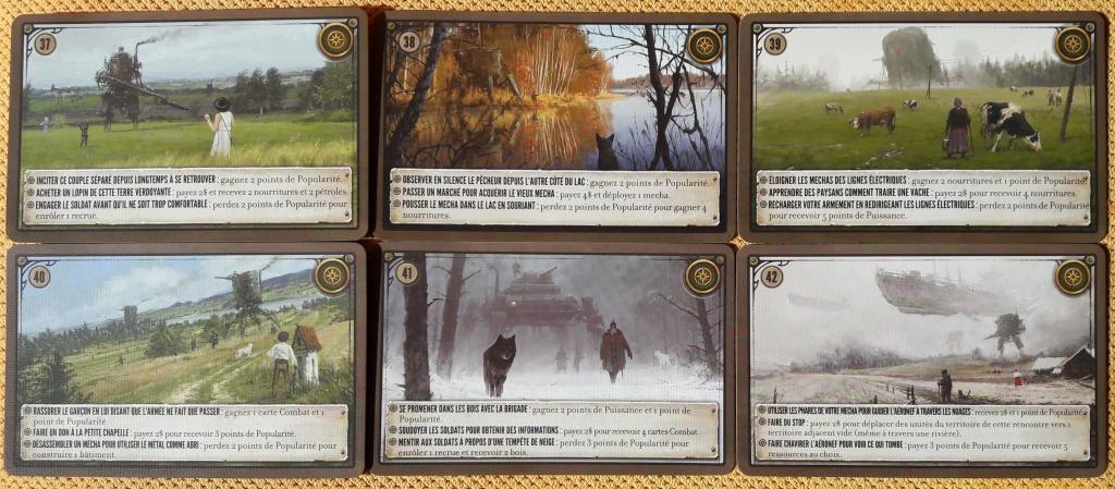 Scythe - Pack Promo - Cartes Rencontres (#37 à #42)