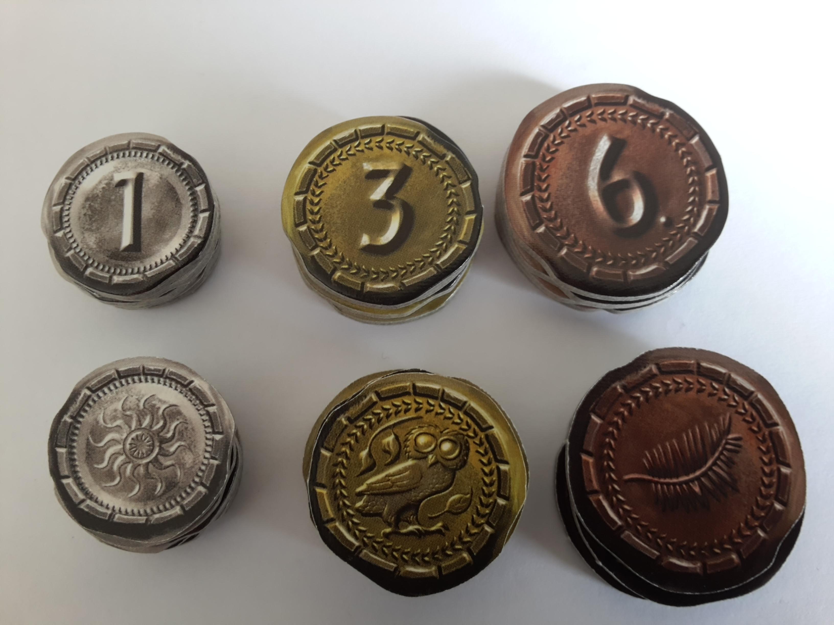 7 Wonders Duel : Pièces de monnaie (carton)