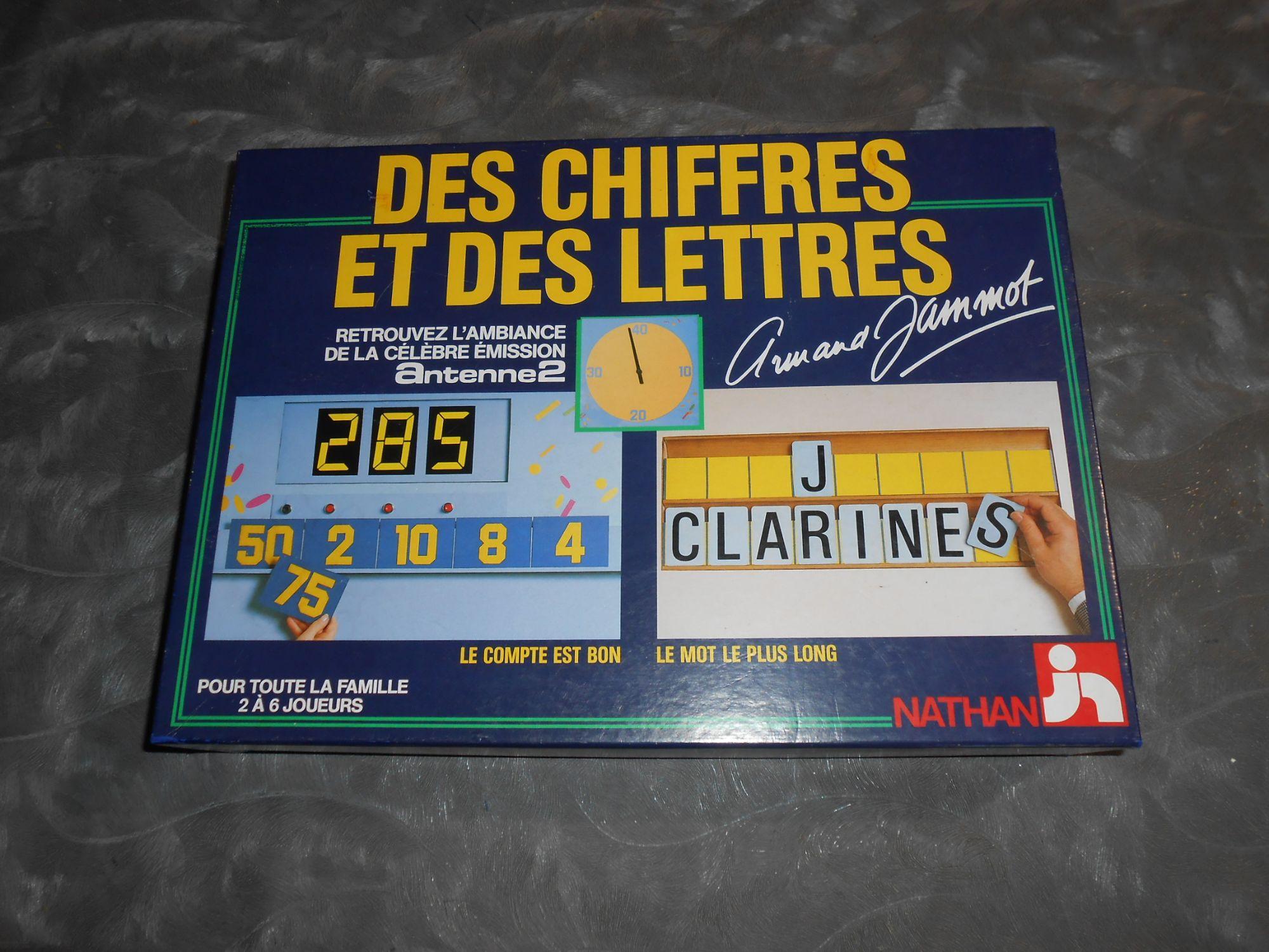 Des chiffres et des lettres - Nathan 1987
