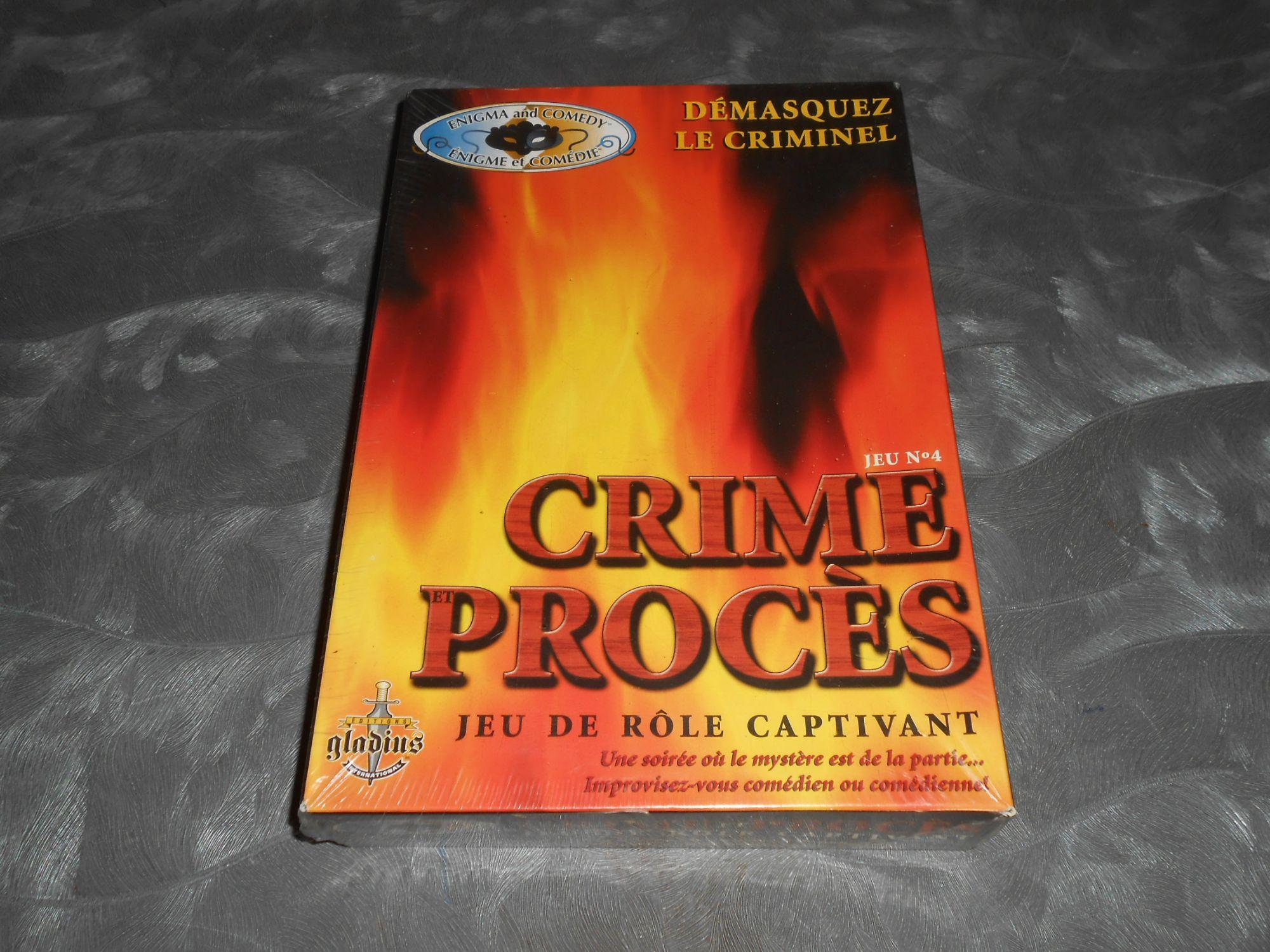 Crime et Procès - Jeu de rôle