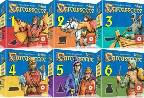 Carcassonne : Lot mini extensions (1à 6)