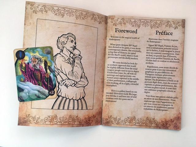 Art book shakespeare + carte Prospero