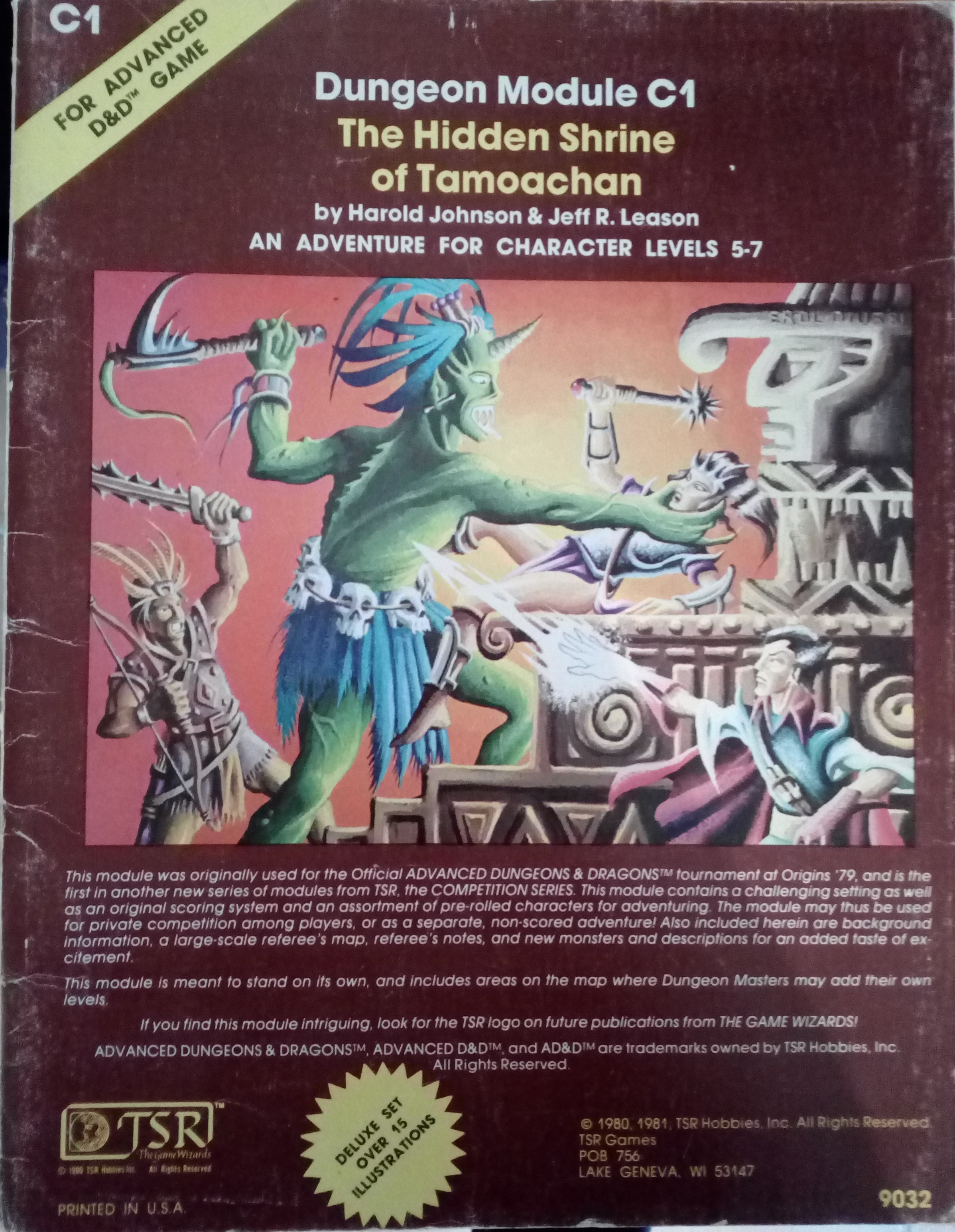 ADVANCED DUNGEONS & DRAGONS - DUNGEON MODULE