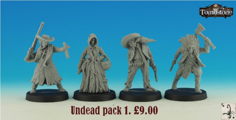 Black Scorpion Miniatures - Tombstone - Undead pack 1