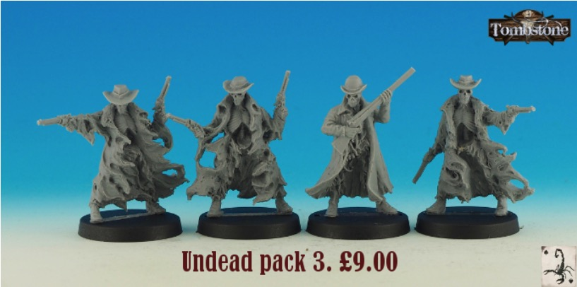 Black Scorpion Miniatures - Tombstone - Undead pack 3