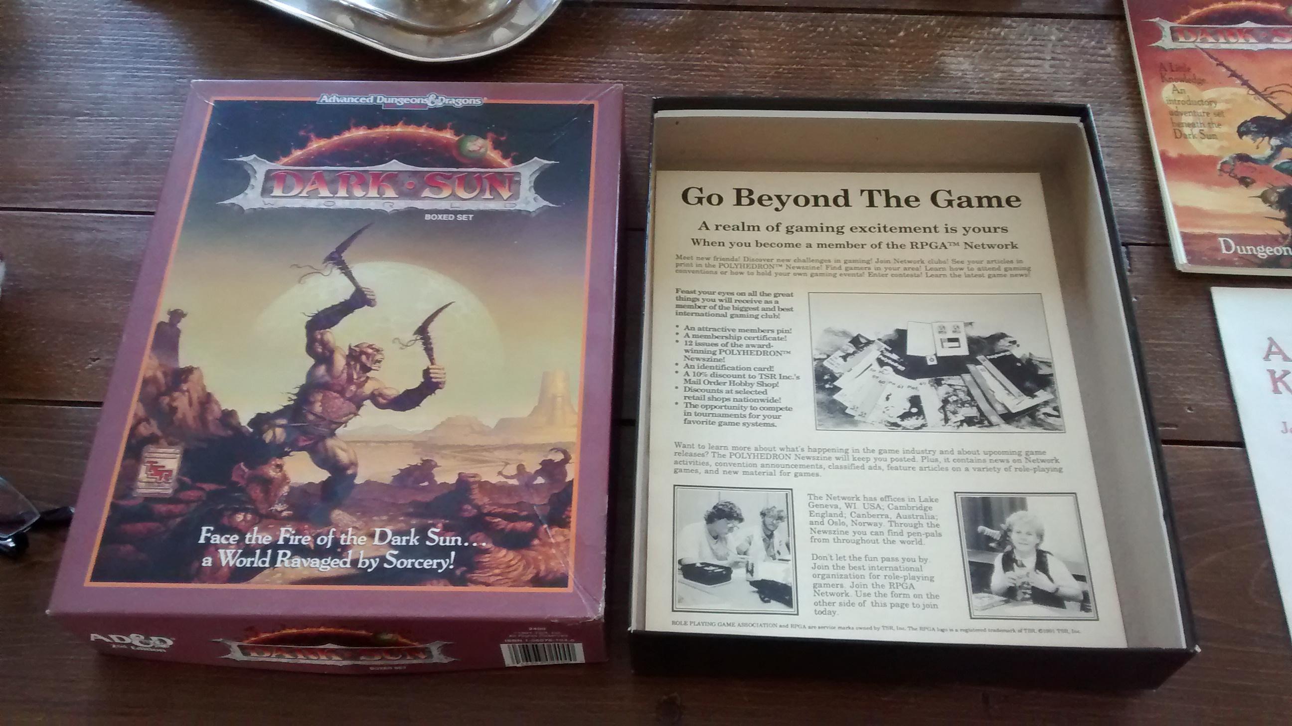 AD&D dark.sun 2nde edition, boxed set
