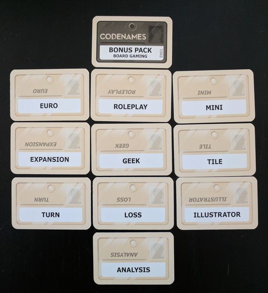 Codenames : Cartes Board Gaming