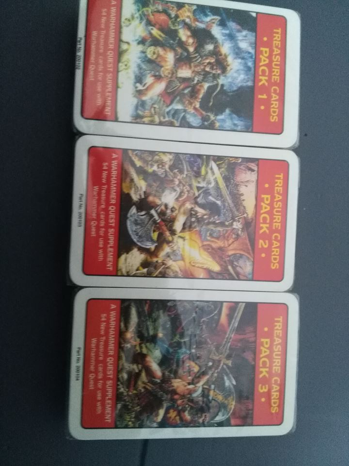 Warhammer Quest : Treasure Packs Card 1,2,3