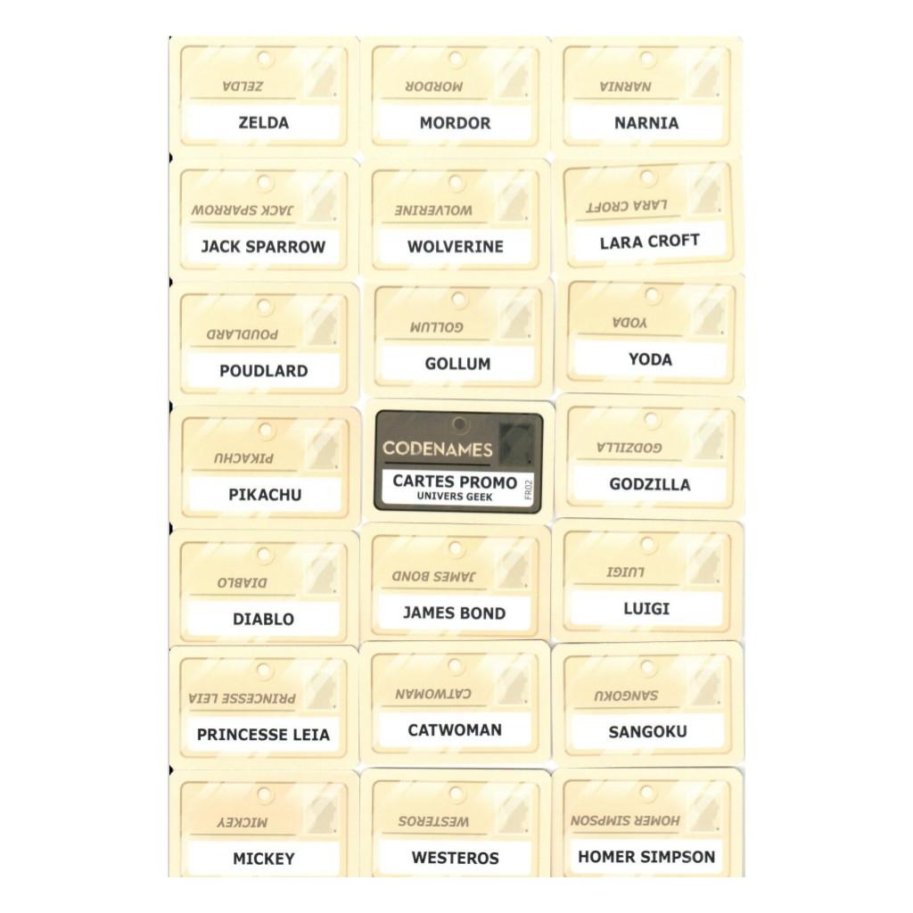 Codenames : Cartes Univers Geek