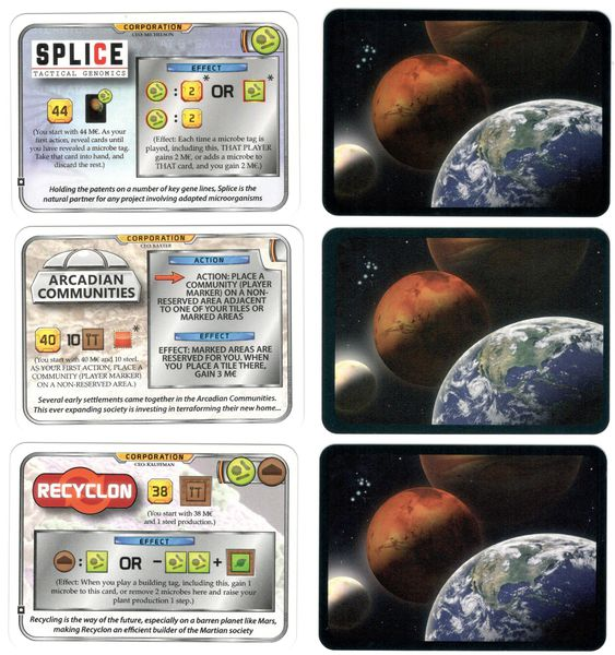 "Terraforming Mars - Pack Cartes Promo ""BGG User-Created Corporations"""