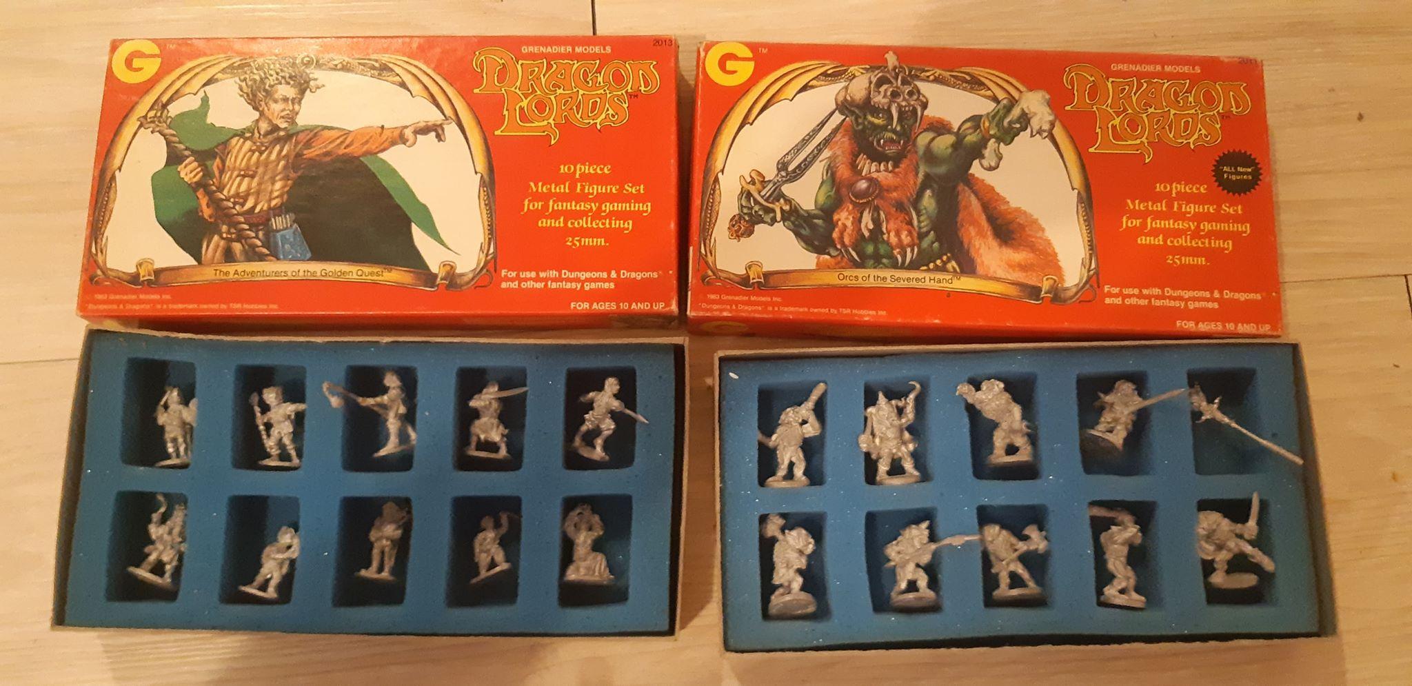Dragon Lords - 19 Figurines de 25 mm pour jeux de rôle tels que Donjons & Dragons