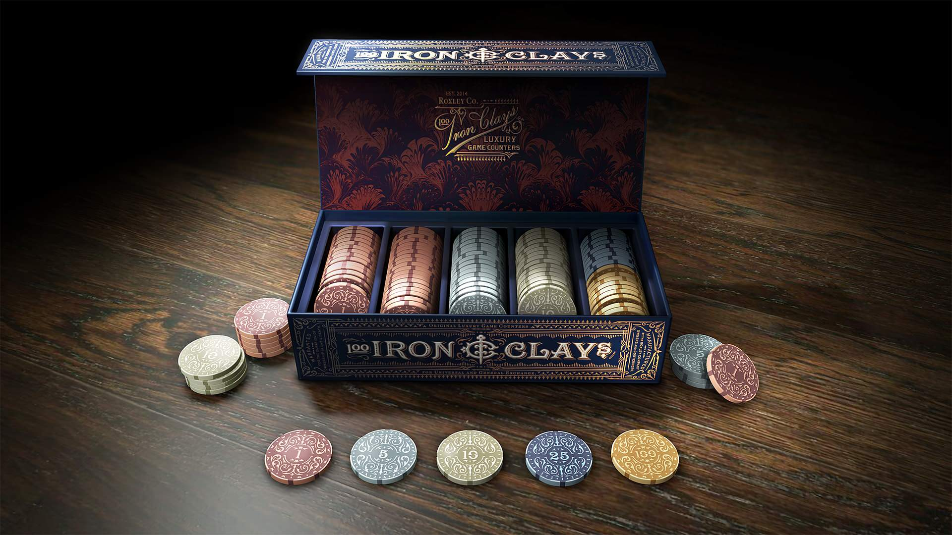 Brass Iron Clays : Gaming Counters (Retail Edition)