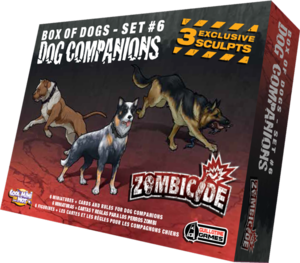 Zombicide - Box of dogs - set #6 - Dog Compagnions
