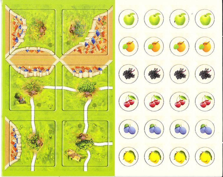 Carcassonne - Die Obstbäume (les arbres fruitiers)