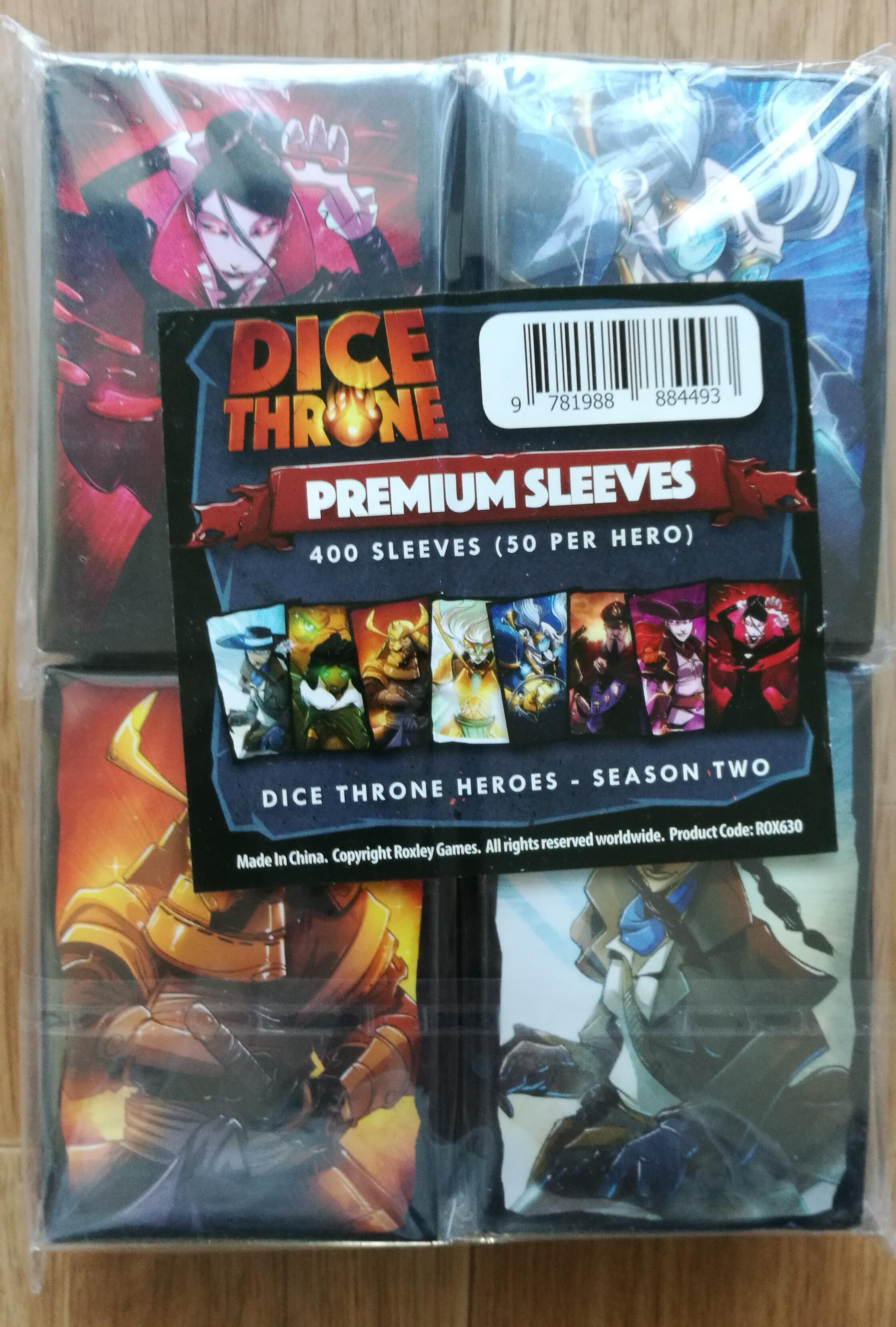 Dice Throne : Card sleeves bundle season 2