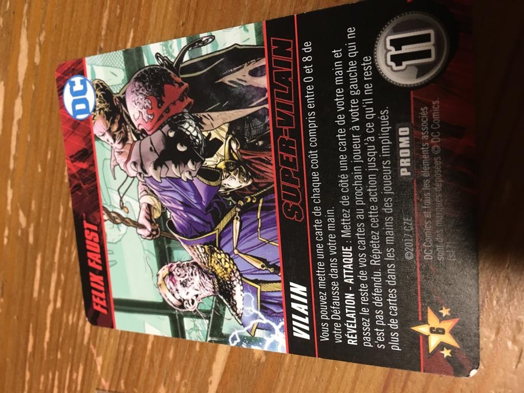 DC Comics : carte goodie Felix Faust Super Vilain