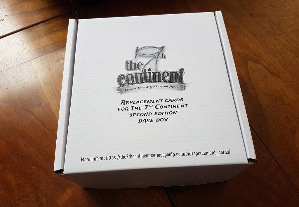 The 7th Continent - cartes de remplacement de la seconde édition