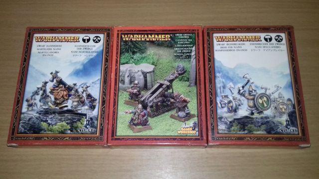Boites de collection de nains Warhammer
