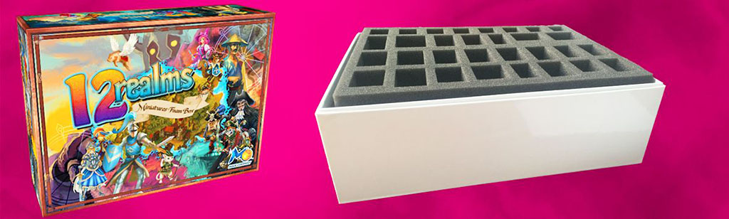 12 realms miniatures foam box