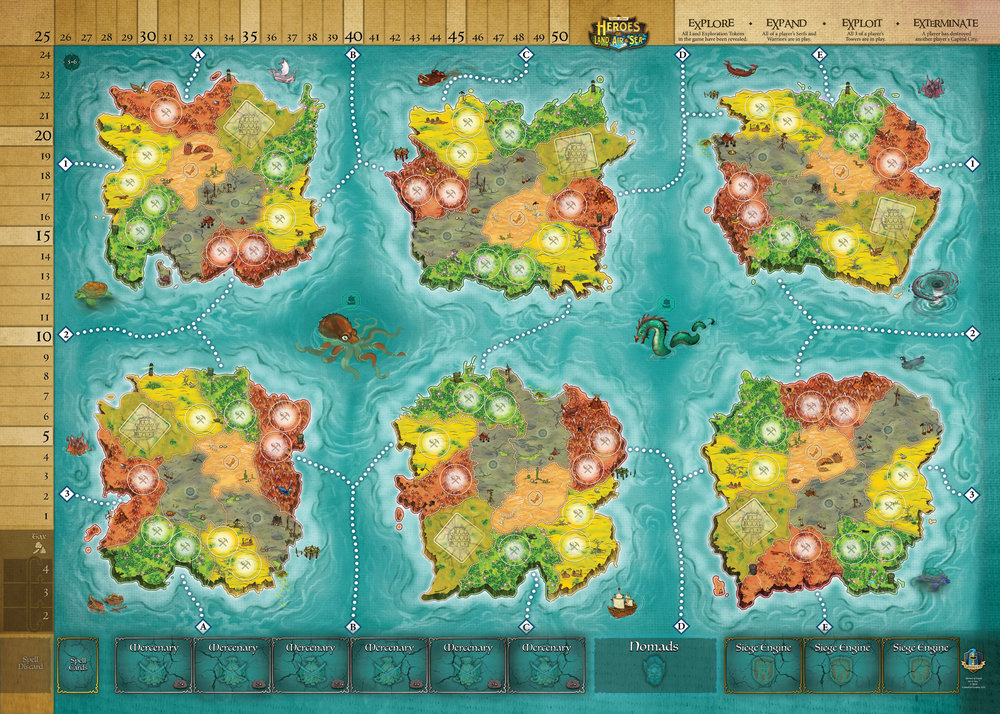 Heroes of Land, Sea & Air - Playmat