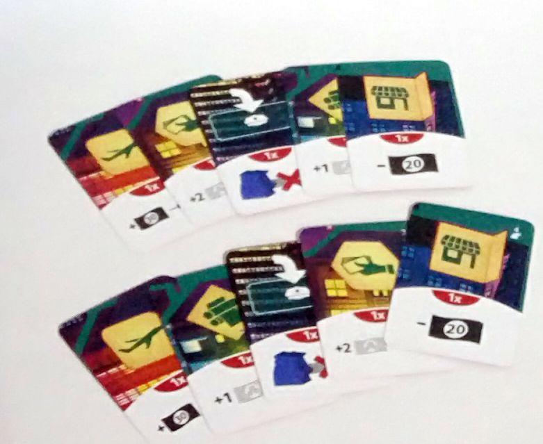 Counterfeiters - Cartes action supplémentaires (lot de 10)
