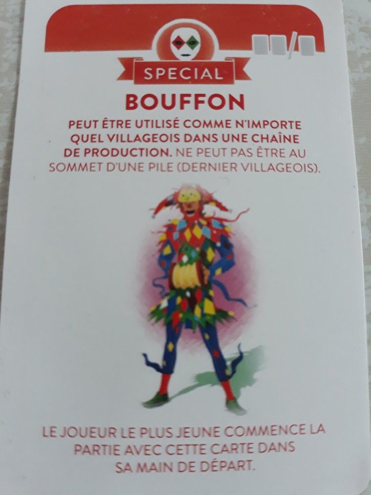 Compagnons - Carte special Bouffon