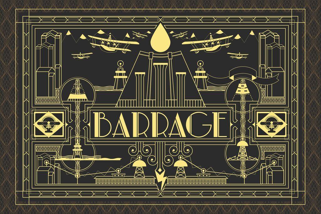 Barrage Carte 3D +Boîte Exclu KS