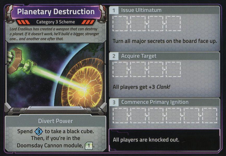 Clank ! - Dans l'espace ! Destruction planétaire