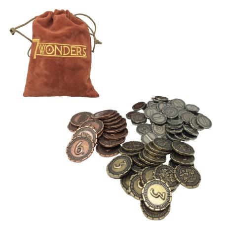 7 wonders - Metal Coins - Pièces de Monnaie