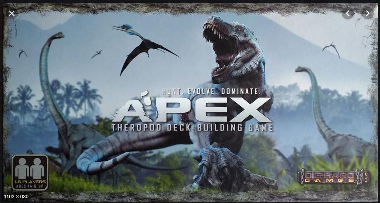 Apex theropod deck builing game