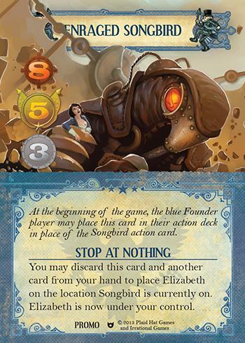 BioShock Infinite - Enraged songbird - promo card