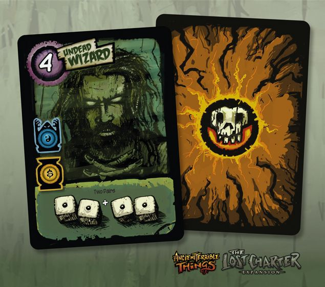 Ancient Terrible Things - undead wizard - promo card