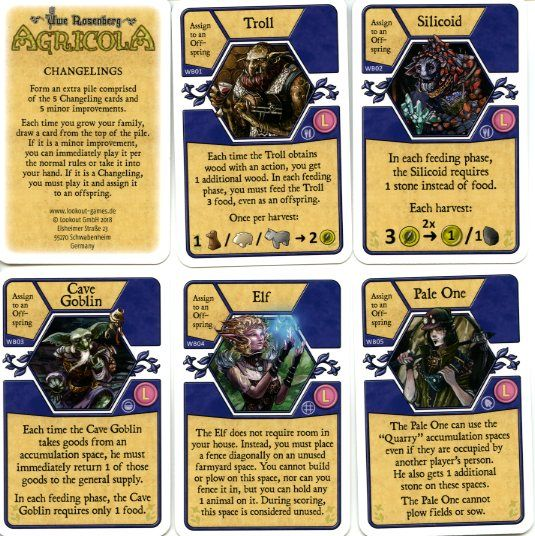 Agricola - Changelings (Spiel 2018 Promo Cards)