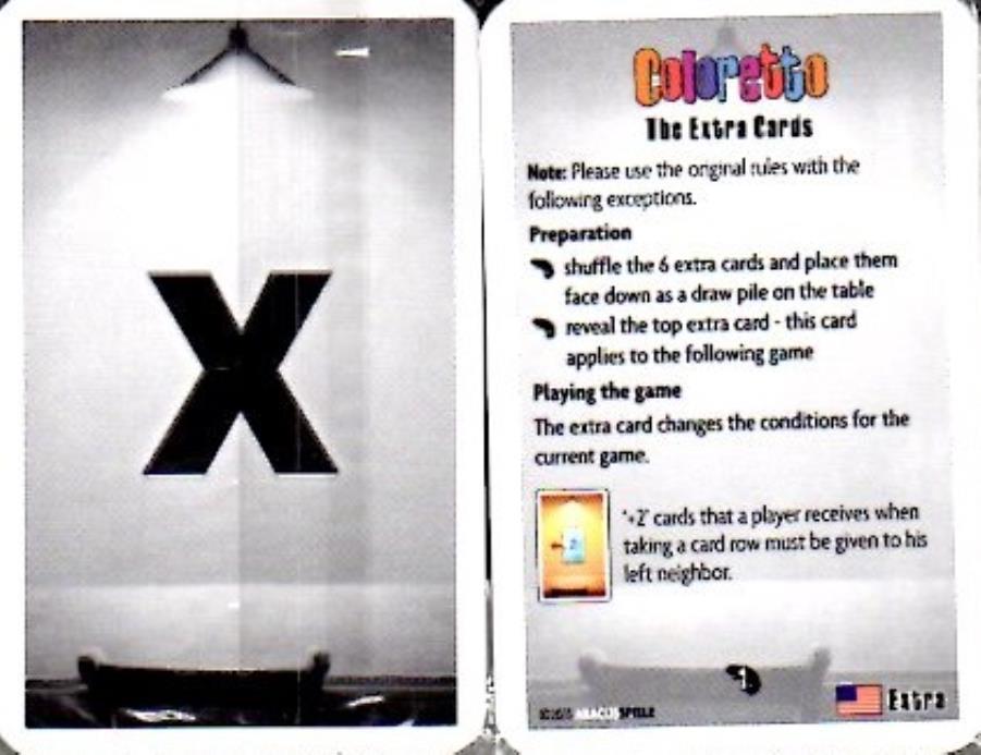 Coloretto - the extra cards