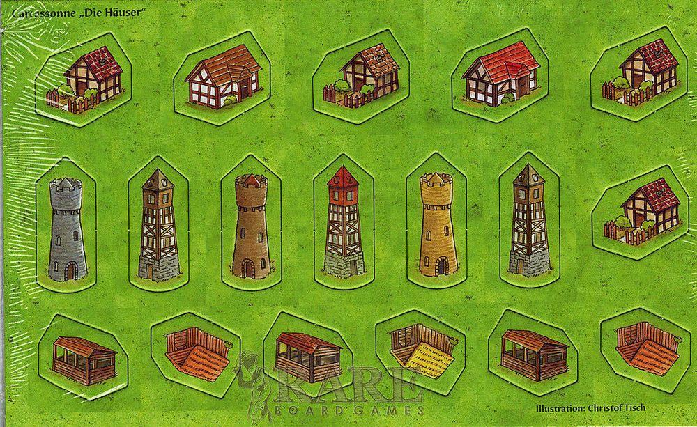 Carcassonne - Die haüser (Les petites constructions)