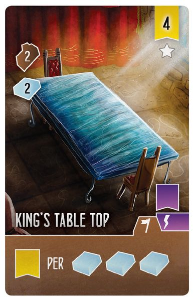 Architectes du royaume de l'ouest - Carte King's Table Top