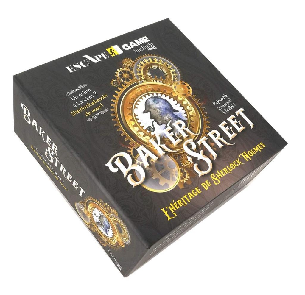 Boite Escape Game (Hachette) - Baker Street : l'héritage de Sherlock Holmes